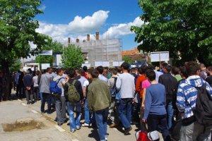 Pristina, 11 mai 2010: au coeur de la manifestation - par Pierre Bonifassi