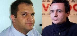 A gauche, Shpend Ahmeti (FER), à droite Albin Kurti (Vetëvendosje)